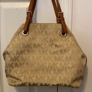 Brown Michael Kors Logo Bag